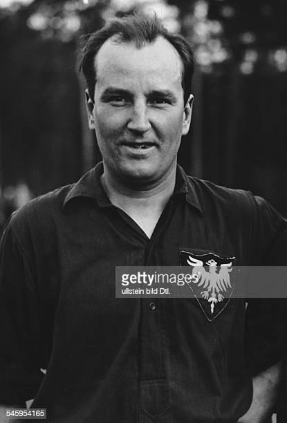 Sportler Hockeyspieler D Porträt 1938