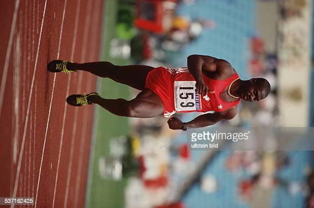 Sportler Leichtathletik CAN in Aktion bei den Olympischen Spielen 1988 in Seoul