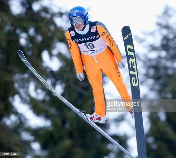 Sportler Skispringen Schweiz Skispringen in Titisee Neustadt