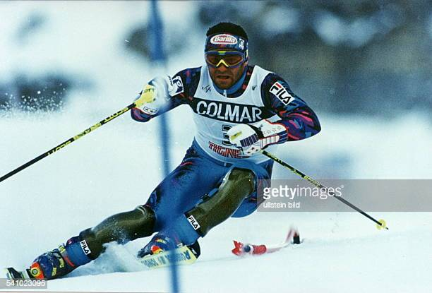 Sportler Wintersport Iauf der Ski Alpin World CupSaisoneröffnung in Tignes Fin Aktion 1994