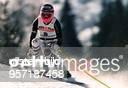 Sportlerin D Ski Alpin in Aktion SuperG in Morzine Frankreich
