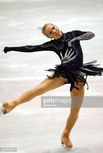 Sportlerin Eiskunstlauf Din Aktion