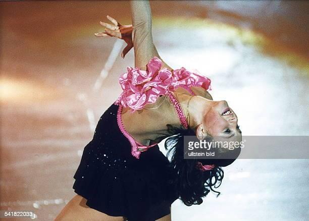 Sportlerin Eiskunstlauf RusslandPose auf dem Eis März 1996