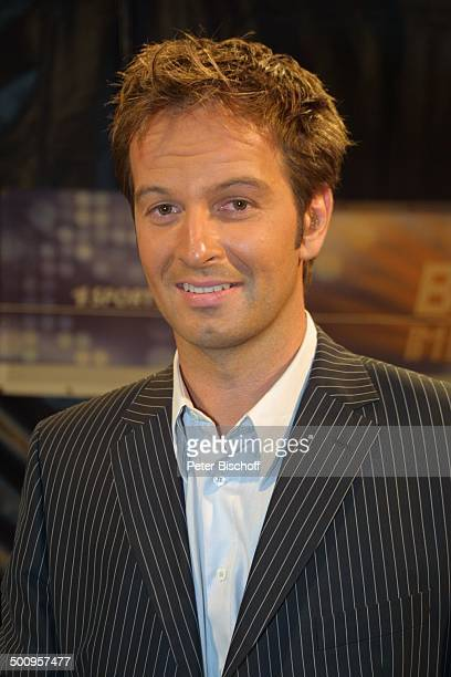 Sport-Moderator Claus Lufen , WM-Titel-Kampf im Boxen, Nürburgring, 16.8.2003, vor dem Ring Promi, P.-Nr.: 816/2003, NB; Foto:P.Bischoff/E;...
