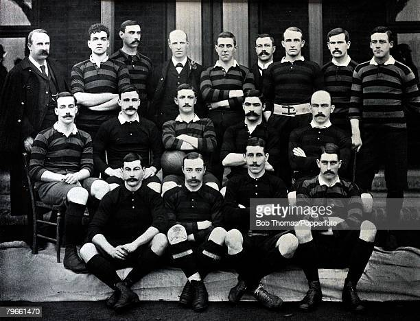 Sport/Rugby Union circa 1896 Back twolr ALater WPCarpmael Standinglr LStokes FCLohden ASpurling PCTarbutt CDixon JCRigby HWFinlinsonSeated lr RFCDe...