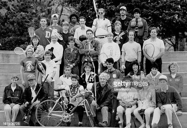 NOV 5 1986 Sports 1 Mike Battaglia lacrosse 2 Terra Ann Malmstrom fencing 3 Brent Cutcliffe badminton 4 Annie Ricketts basketball 5 Ed Zimmerman...