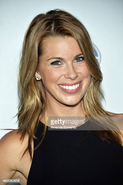 Sports 1 reporter Jenny Taft arrives at the FOX Sports 1 Women's World Cup Kickoff event at Hangar 8 on December 6 2014 in Santa Monica California