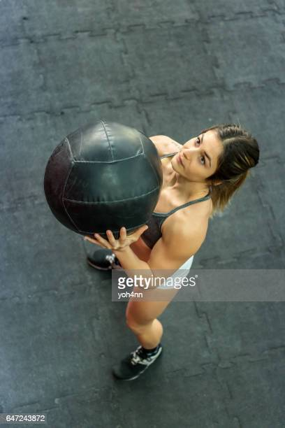 Sports activity with medicine ball