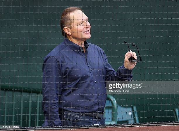 Sports agent Scott Boras attends the game between the Chicago Cubs and the Los Angeles Angels of Anaheim at Angel Stadium of Anaheim on April 5, 2016...