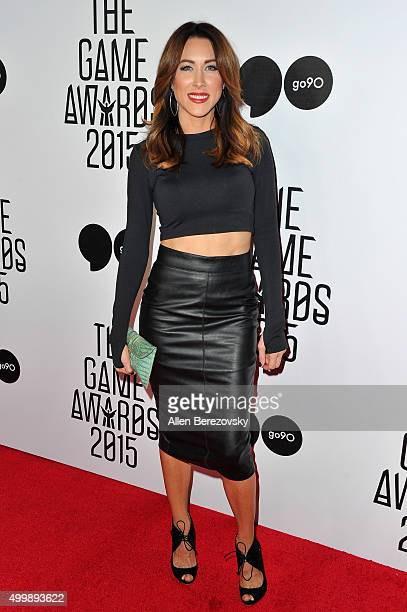 Sports anchor Erin Coscarelli arrives at The Game Awards 2015 at Microsoft Theater on December 3, 2015 in Los Angeles, California.