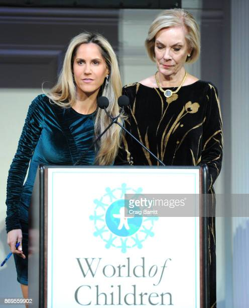 Sports anchor for PIX11 World of Children Celebrity Ambassador News Andy Adler and World of Children CoFounder Event CoChair Kay Isaacson Leibowitz...