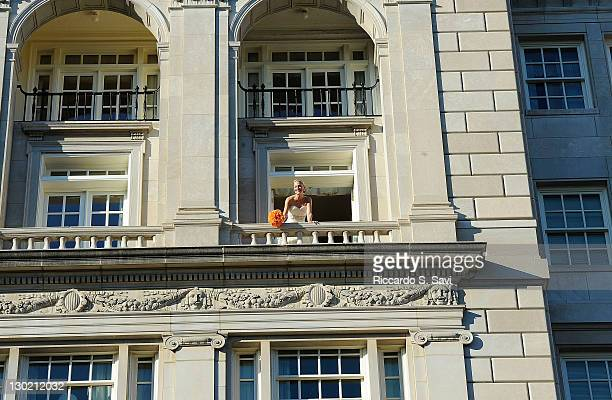 ESPN sports anchor Lindsay Czarniak prepares for her wedding at the Hay Adams on October 15 2011 in Washington DC