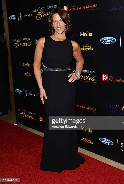 Sports anchorwoman Dana Jacobson arrives at the 40th Anniversary Gracies Awards at The Beverly Hilton Hotel on May 19 2015 in Beverly Hills California