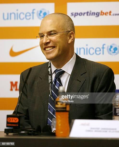 Sports' Andrew Messick attends the Euroleague Basketball Final Presentation Press Conference at the Palacio de los deportes de la Comunidad de Madrid...