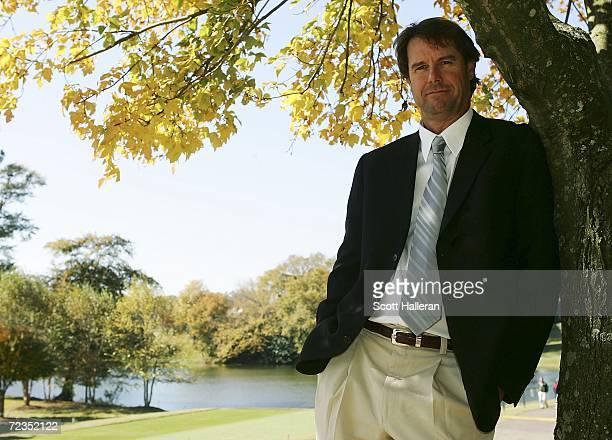 Sports announcer and United States 2007 Ryder Cup captain Paul Azinger poses for a portrait during the first round of the Tour Championship at East...