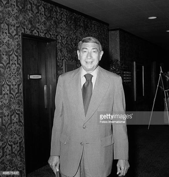 Sports announcer Howard Cosell poses for a portrait before the ABC affiliate party on May 16 1977 at the Century Plaza Hotel in Los Angeles California