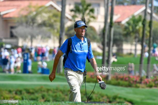 Sports announcer Jim Mackay walks down the third hole during the third round of THE PLAYERS Championship on THE PLAYERS Stadium Course at TPC...