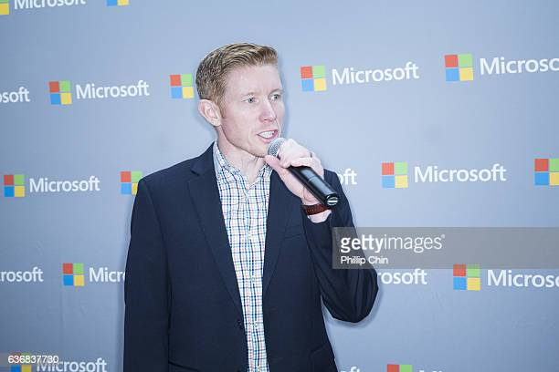 Sports announcer Scott Rintoul attends the NHL 17 celebration at the Microsoft Store at Pacific Centre on December 17 2016 in Vancouver Canada