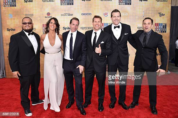 Sports announcers Manny Rodriguez Dana Jacobson Sean Grande Scott Hanson Michael C Williams and George X attend Spike TV's 10th Annual Guys Choice...