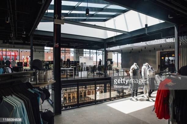 Sports apparel is displayed for sale at a Lululemon Athletica Inc. Store in the Lincoln Park neighborhood of Chicago, Illinois, U.S., on Wednesday,...