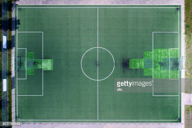 Sports area, soccer field - aerial view