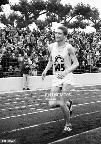 sports athletics German Championships in Athletics 1965 in Duisburg Wedau Stadium nowadays MSV Arena track racing long distance marathon men Hubert...