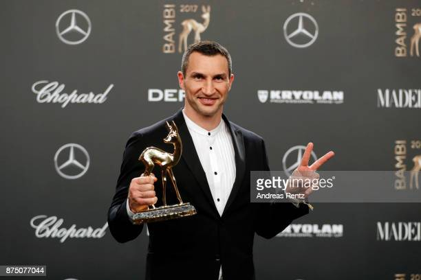'Sports' Award Winner Wladimir Klitschko during the Bambi Awards 2017 winners board at Stage Theater on November 16 2017 in Berlin Germany