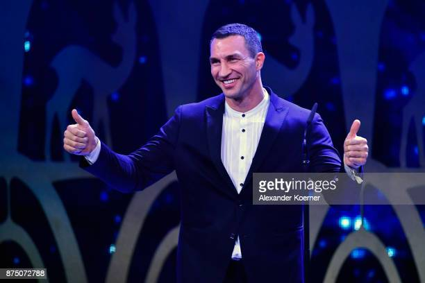 'Sports' Award Winner Wladimir Klitschko on stage during the Bambi Awards 2017 show at Stage Theater on November 16 2017 in Berlin Germany