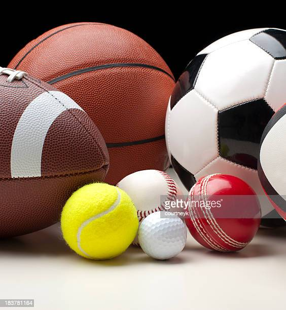 sports balls - sports equipment stock pictures, royalty-free photos & images