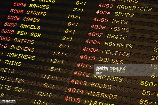 Sports book tote board
