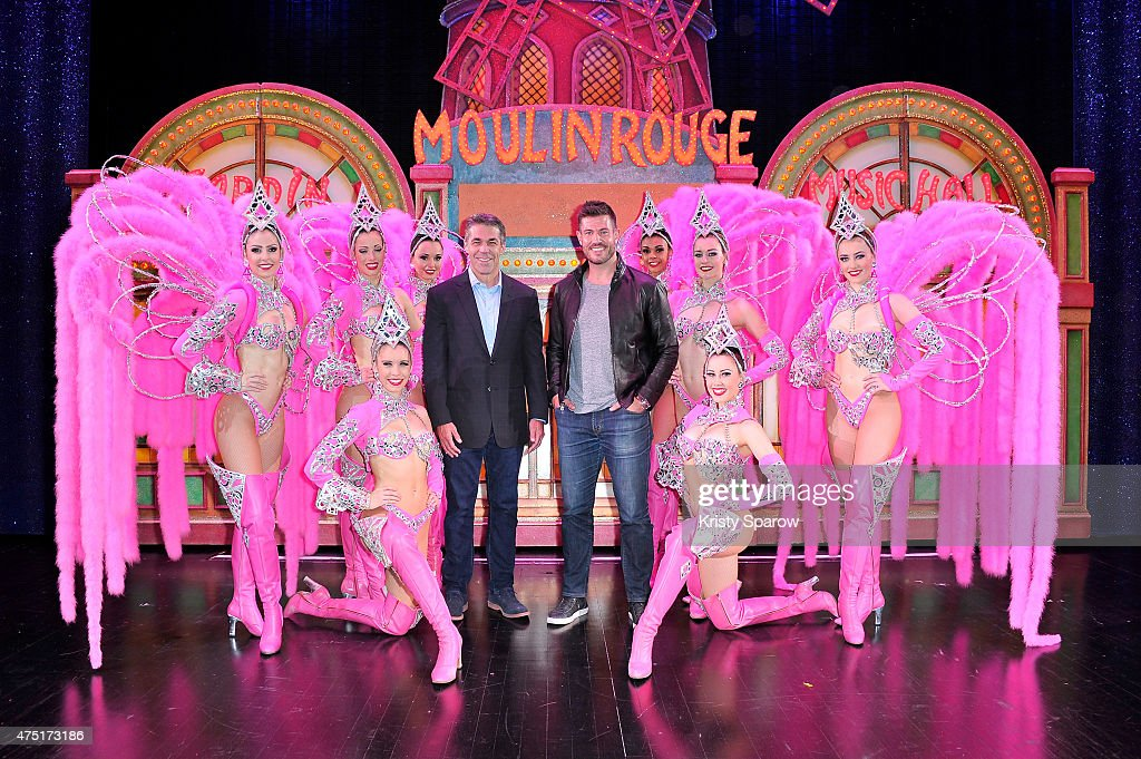 Jesse Palmer And Chris Fowler At Le Moulin Rouge In Paris