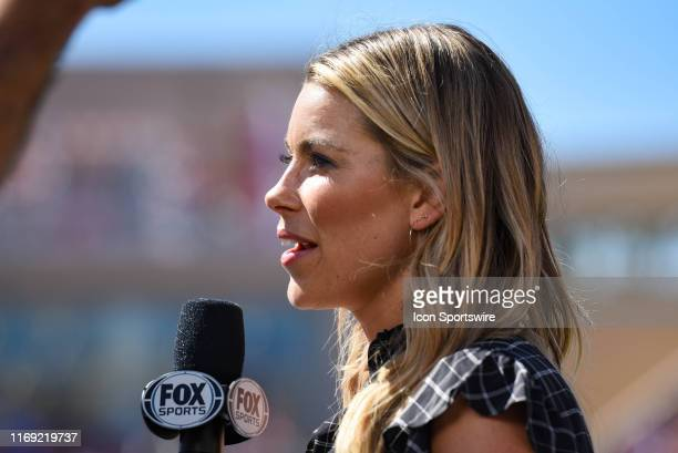 Sports broadcaster Jenny Taft during a college football game between the Ohio State Buckeyes and Indiana Hoosiers on September 14 2019 at Memorial...