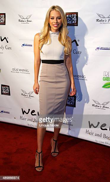 Sports Broadcaster Lindsay McCormick attends Putting For Pups Golf Tournament And Gala Brookside Golf Club on September 13 2015 in Pasadena California
