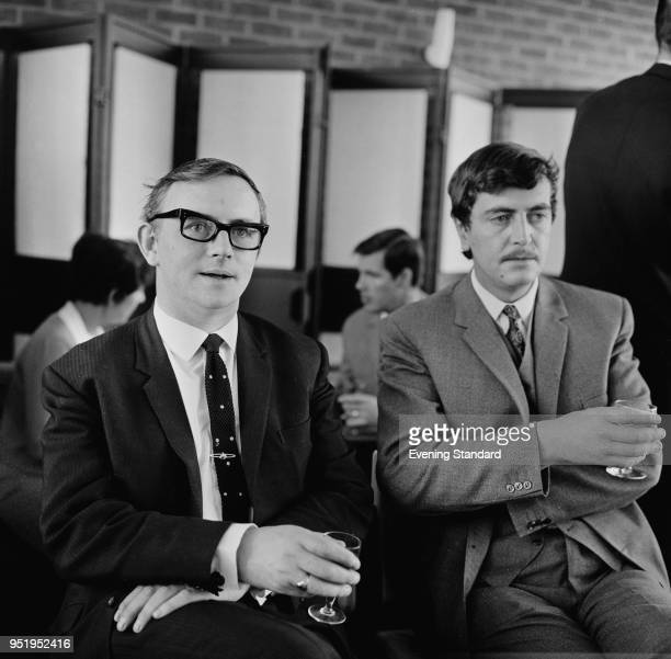 Sports broadcasters T O'Connor and Jimmy Magee UK 6th June 1968