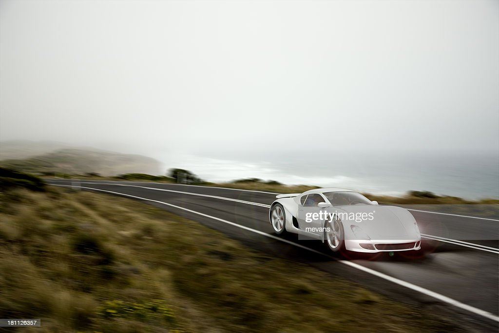 Sports Car al atardecer : Foto de stock