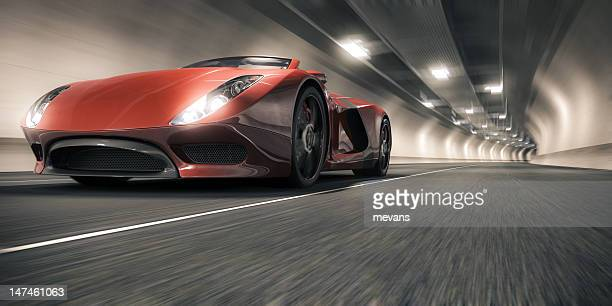 Sports Car in a Tunnel