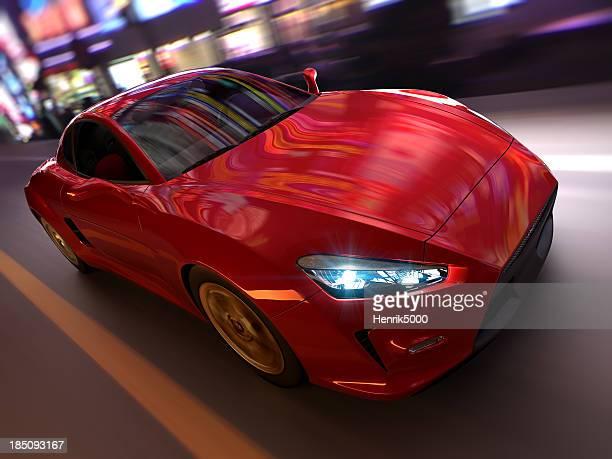Sportwagen in urbaner Umgebung