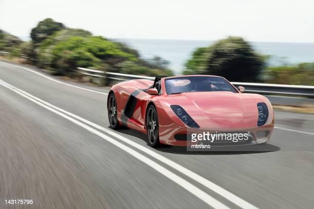 Sport Auto auf der Küstenstraße