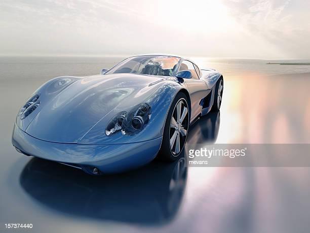 Sports Car on Beach