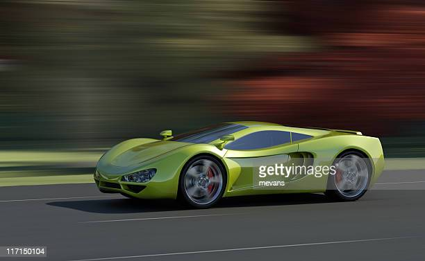 sports car - futuristic car stock pictures, royalty-free photos & images