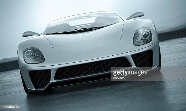 sports car - front view stock pictures, royalty-free photos & images