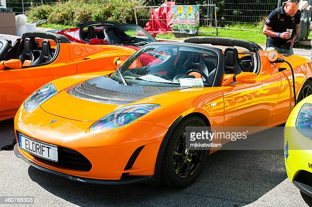 Sports car runs on electricity and gets charged