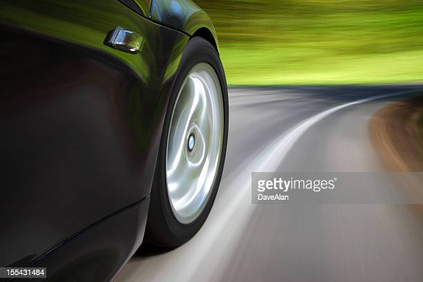 Sports Car Speeding Corner.