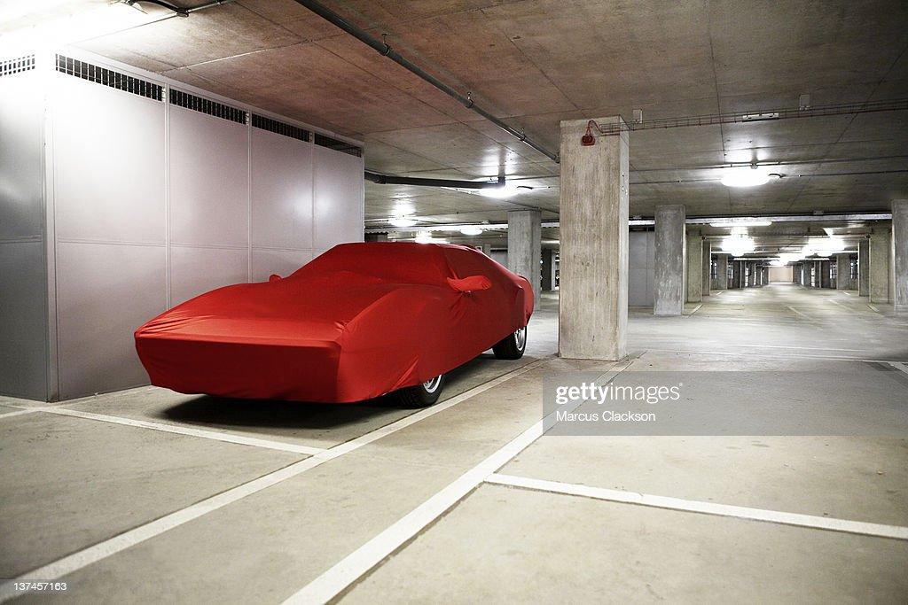 Sports Car Under Wraps : Stock Photo