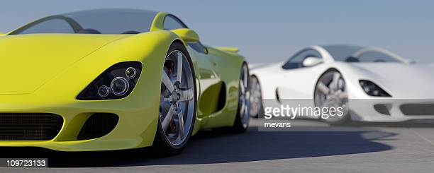 sports cars - prestige car stock pictures, royalty-free photos & images