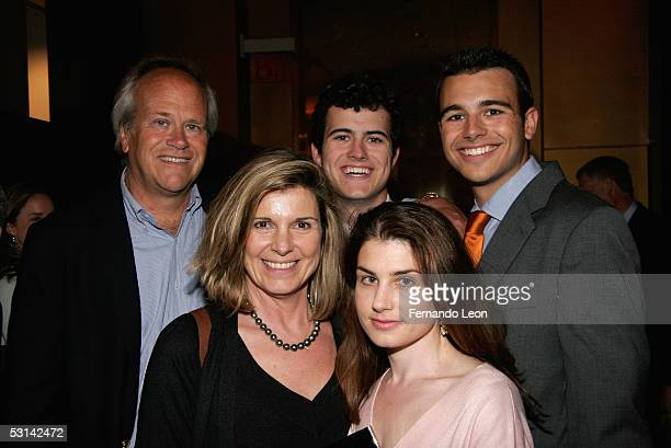 NBC Sports chief Dick Ebersol with his sons director Willie Ebersol and producer Charlie Ebersol with mom/actress Susan St James and daughter...