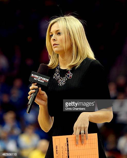 Sports College basketball reporter Jamie Erdahl during Seton Hall Pirates against the Marquette Golden Eagles at Prudential Center on February 7 2015...
