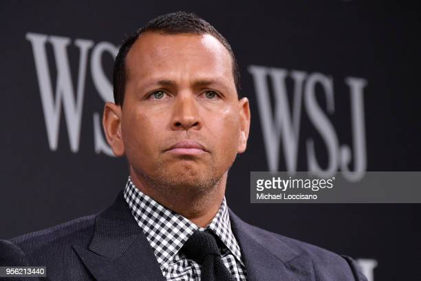 Sports commentator and former professional baseball player Alex Rodriguez takes part in a panel during WSJ's The Future of Everything Festival at...