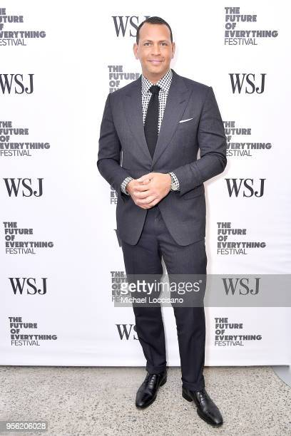 Sports commentator and former professional baseball player Alex Rodriguez attends WSJ's The Future of Everything Festival at Spring Studios on May 8...