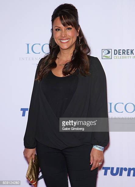 Sports commentator and model Leeann Tweeden attends the Derek Jeter Celebrity Invitational gala at the Aria Resort Casino on April 21 2016 in Las...